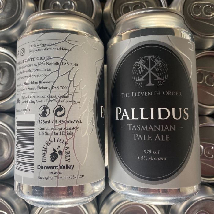 The Eleventh Order Brewery Pallidus Pale Ale label