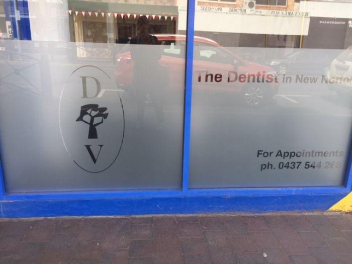 Dentist in New Norfolk window